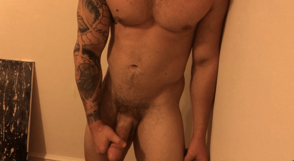 Matthew Camp shows his big cock