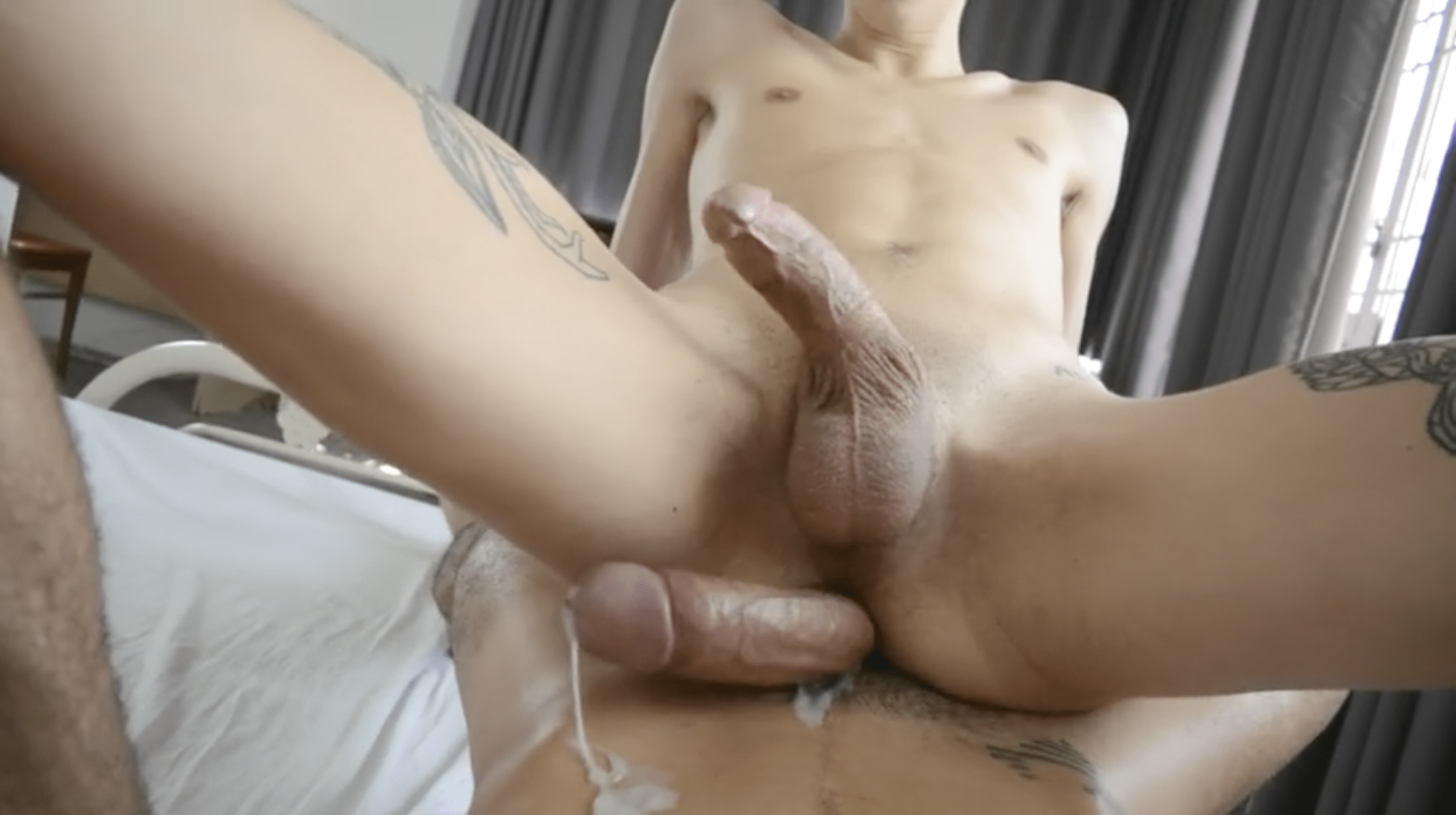 I pee on his cock outdoors then i ride him hard